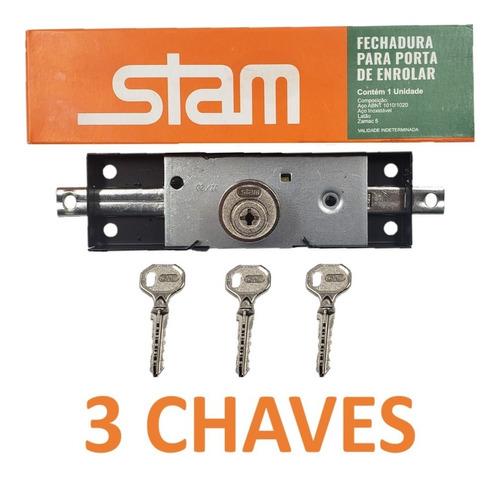 Fechadura Porta De Aço Enrolar 1201  Stam 3 Chaves Tetra