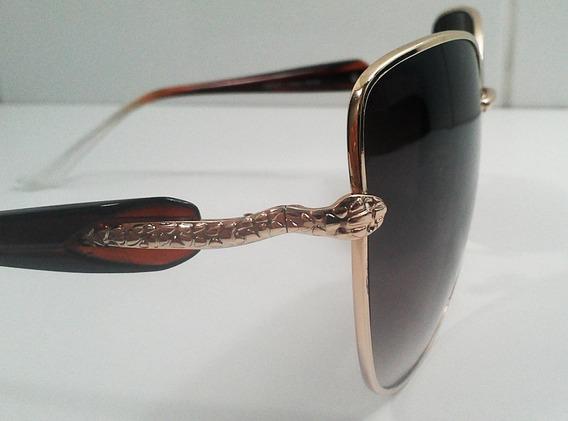Óculos De Sol - Proteção Uva E Uvb 400 - Detalhe Cobra