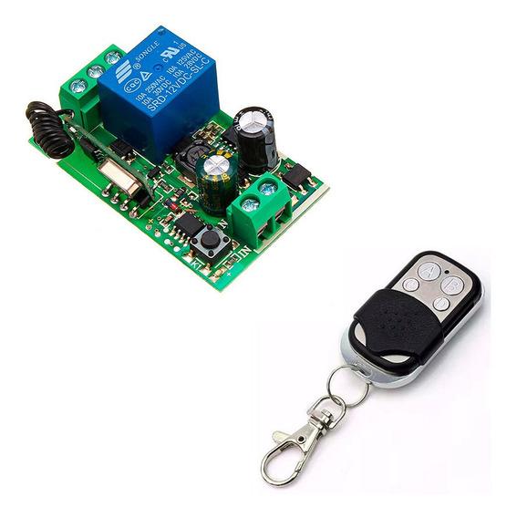 Módulo Relé Rf 1 Canais + Controle 433 Mhz 110v - 220v