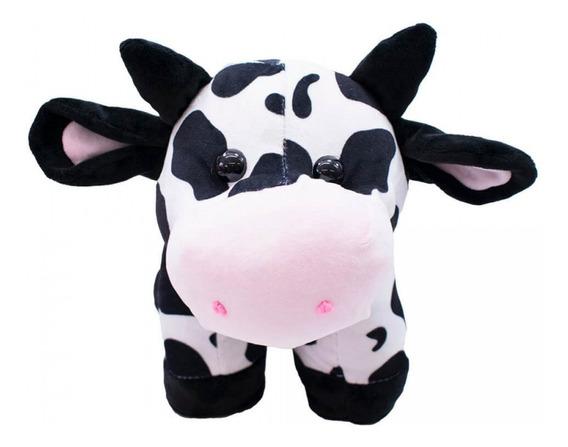 Vaca Em Pé 39 Cm - Pelúcia Decoração Fazendinha Fofinha