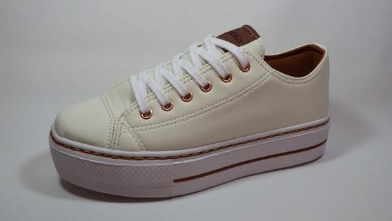 Tenis Feminino Plataforma Branco Energy - 3211