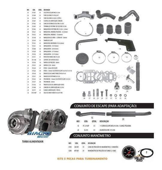 Kit Turbo Trator Mf 275 - 290 Perkins Q20b 4236 - 4248