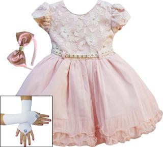 Vestido Festa Floral Princesa Jardim Encantado Oferta E Kit