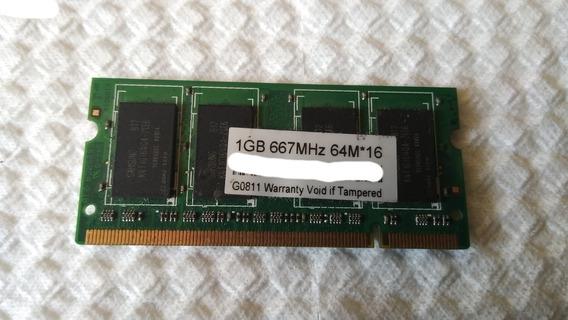 420 - Memória Ddr2 667mhz 1gb 64m*16 - Semi-nova