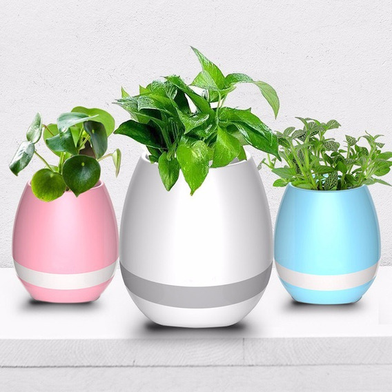 Vaso Decorativo Led Bluetooth Cxa Som Música Sensor 10 Un