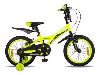 Bicicleta Newton Winner Fluor Yellow R16 5 A 7 Años