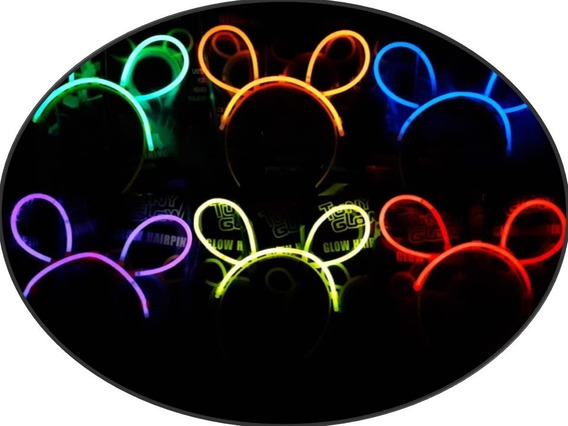 Diadema Mickey Luz Neon 100 Pza Luminosa Barato Mayoreo