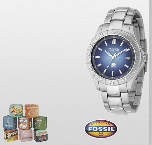 Fossil Blue Am-3689  Reloj Original