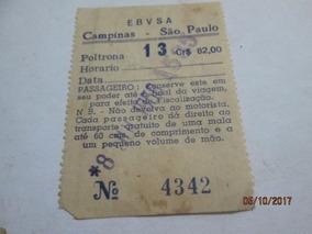 Passagem Bilhete Ônibus Decáda 50 Papel E. B. V. S. A.