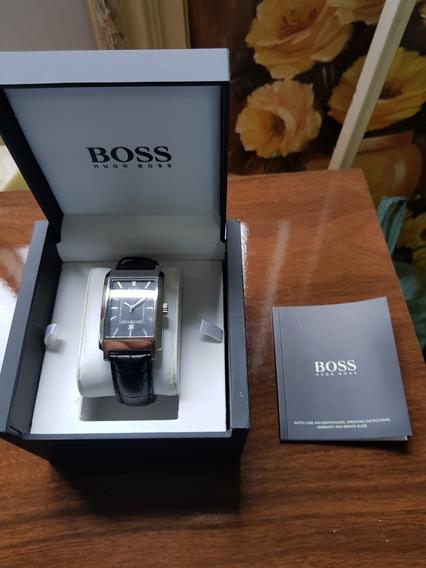 Relógio Hugo Boss Novo Com Pulseira De Couro