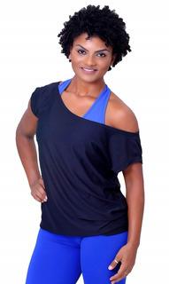 Camisa Fitness Academia Lisa Dry Fit Ombro Caído - Feminino
