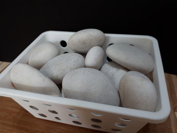 Lote Rochas Dolomita 02 Kg Seixos Naturais Pedra Rolada 4cm