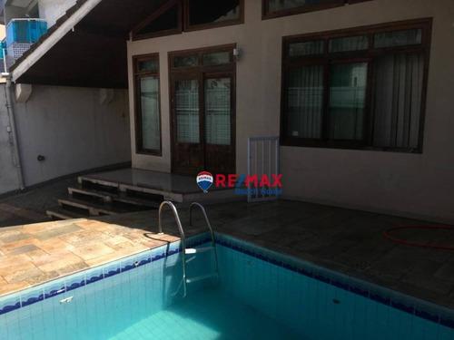 Casa Impecável  À Venda, 338 M² Por R$ 1.100.000 - Praia Do Tombo - Guarujá/sp - Ca0306