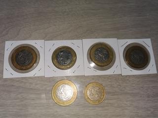 Colección De 6 Monedas, 5 De 20 Pesos Y 1 De 10 Pesos