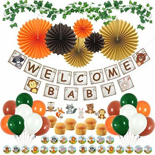 Umiss Paper Woodland Baby Shower Decoraciones Para Niño O Ni