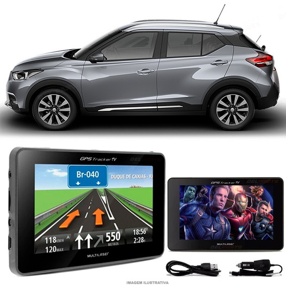Gps Automotivo Nissan Kicks Tela 4.3 Voz Tv Digital Fm