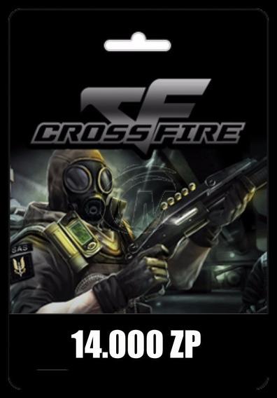 Crossfire Jogo Pc - Cartão De 14.000 Zp Cash - Recarga