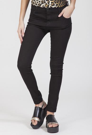 Ay Not Dead Pantalon De Jean Negro Elastizado