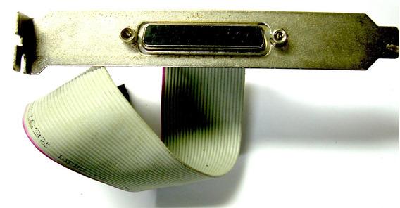 Cabo Adaptador Placa Mãe Impressora Paralela Fêmea / Fêmea