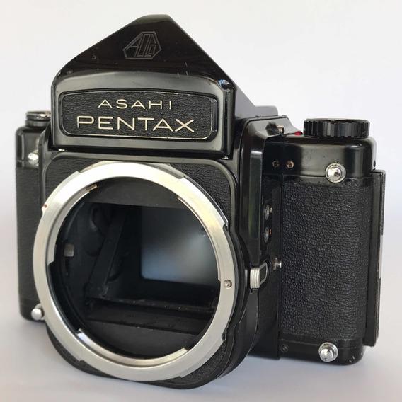 Câmera Pentax 67 6x7 Médio Formato Com Prisma Em Bom Estado