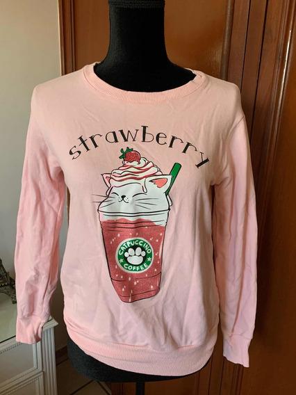 Sudadera Pink Rosa Logo Cafe Envio Gratis Dhl