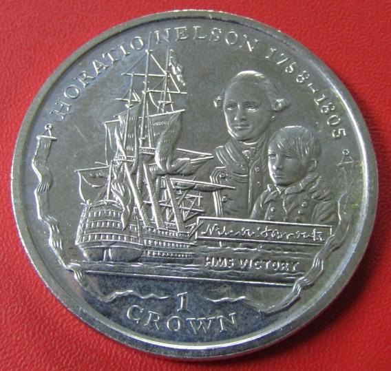 Islas Malvinas Moneda 1 Crown 2005 Unc Horatio Nelson Km 129