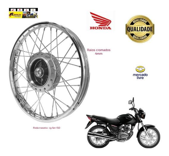 Roda Montada Moto Traseira Titan-fan 150 Raios 4mm