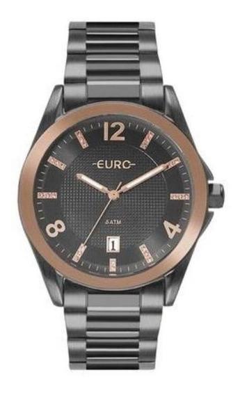 Relógio Euro Feminino Analógico Calendário Casual Discreto