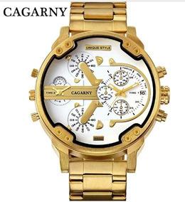 Relógio Dourado Cagarny Frete Gratis Promoção Valentinesdays