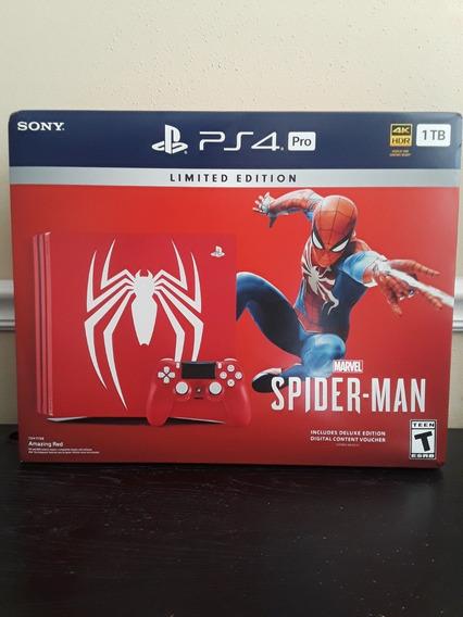 Nova Edição Limitada Sony Ps4 Pro 1tb Spiderman.