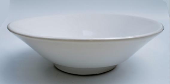 Lavabo Ovalin Redondo Sobreponer Cerámico Blanco 44cm Cato