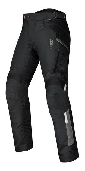 Calça X11 Troy 2 Feminina Preta Impermeável Proteção Moto
