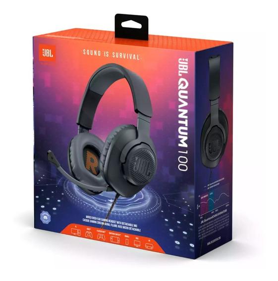 Jbl Quantum 100 Fone De Ouvido Over-ear Para Jogos, Com Fio