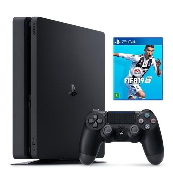 Ps4 Slim 1tb Com Jogo Fifa 19 Sony, Novo E Lacrado