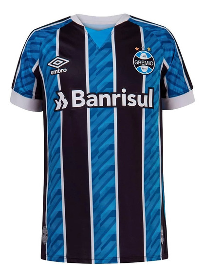 Camisa Grêmio Juvenil I 2020/21 S/n° Torcedor Umbro