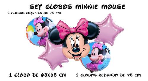 Globos Metalizados Minnie X5