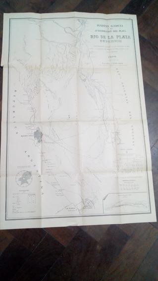 Mapa Antiguo De La Isla Martín García