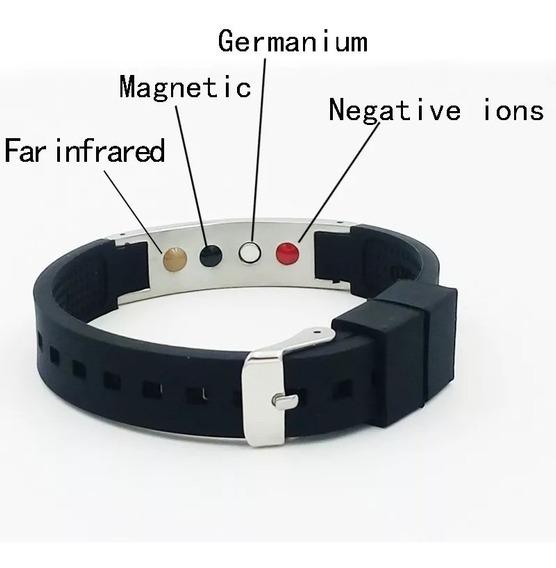 10 Pulseiras Magnética Ion Fir 4 Em 1 Silicone Atacado