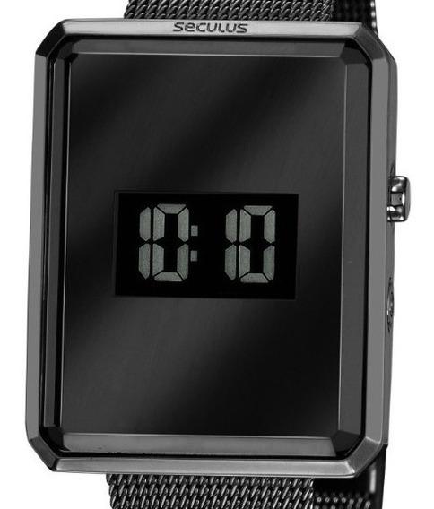 Relógio Seculus Feminino Digital Preto Garantia 2 Anos