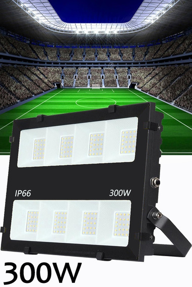 Refletor Holofote Led 300w Lançamento Branco Frio 6500k Alta Potência 30.000 Lúmens Ip66 A Prova D