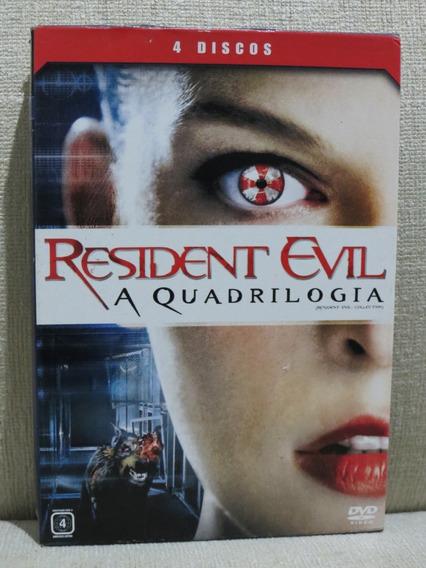 Box 4 Dvd Resident Evil A Quadrilogia Original