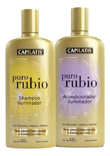 Capilatis Puro Rubio Iluminador Shampoo Acondicionador Mercado Libre
