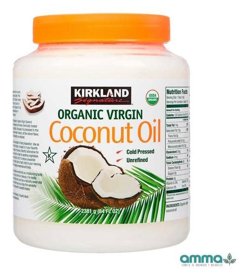 Aceite De Coco Orgánico Virgen 2.48 Lt Kirkland Puro