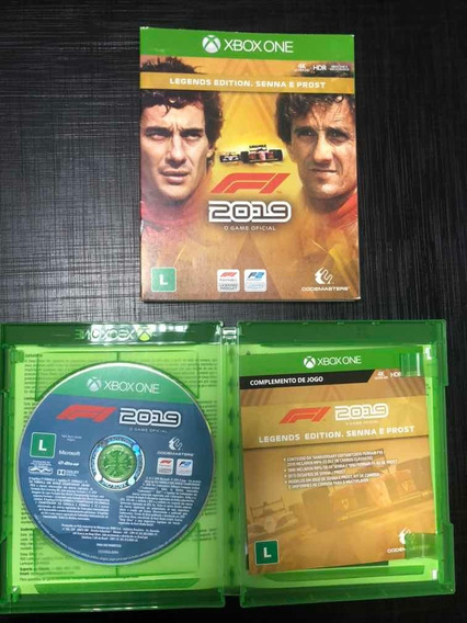 Jogo Físico Xbox One F1 2019 Legends Edition Senna E Prost