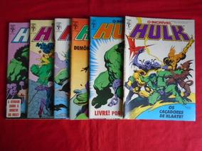 O Incrível Hulk - 58, 59, 60, 61, 62, 63 - Frete: 10,00
