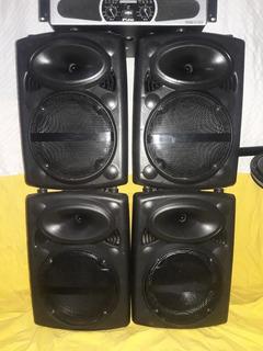 Combo De Sonido 4 Bafles 1 Potencia Sistema Sonido Iglesias