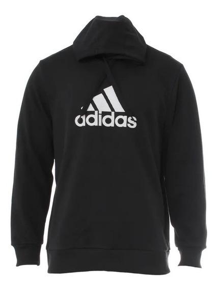 adidas Buzo C/capucha Lifestyle Hombre Ess Logo Negro