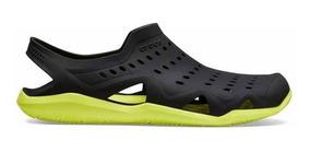Zapato Crocs Caballero Swiftwater Wave M Negro / Amarillo