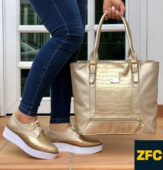 Zapatos Colombianos En Combo Bolicheros Y Bolso