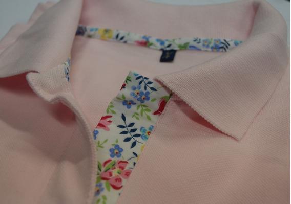 Chomba Pique Tipo Polo Color Rosa Mujer